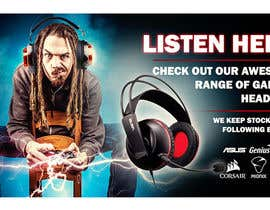 #22 untuk Design A Website Banner To Promote Gaming Headset Sales oleh AnnRS