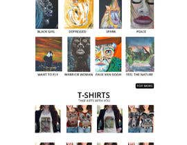 nº 44 pour I need a website for selling paintings and T-SHirts etc from the paintings par JohnDigiTech