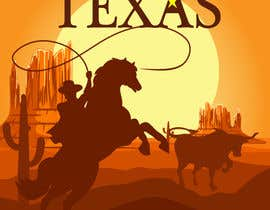#11 for Design Texas sticker for gift product for gift shop by chloechoo27