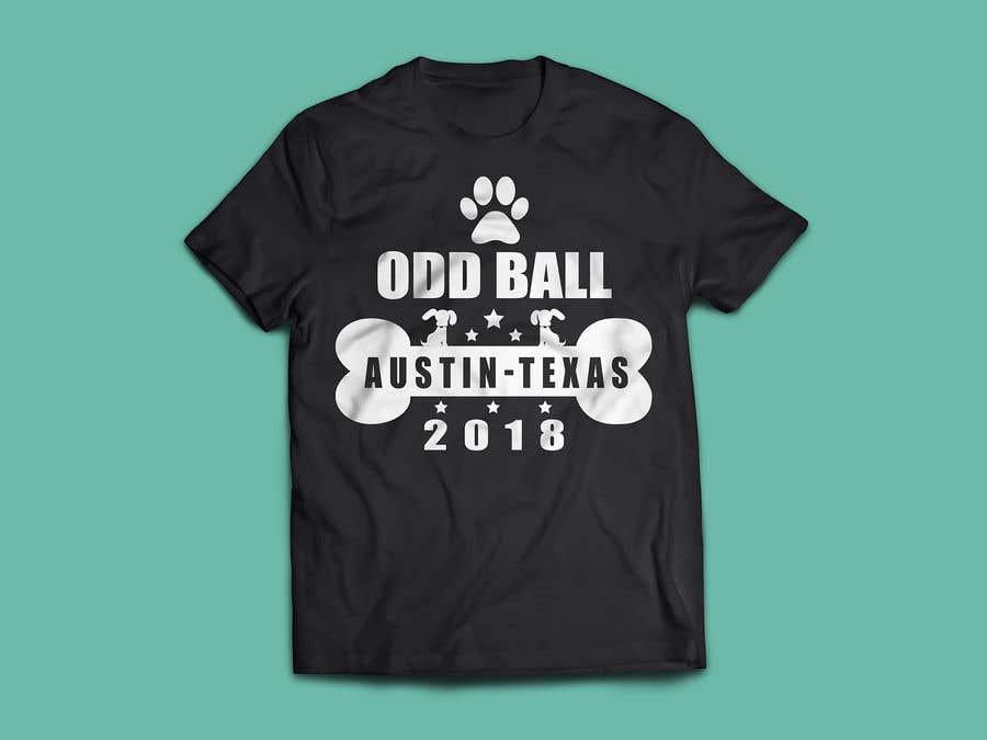 """Inscrição nº 63 do Concurso para Tshirt Design for a Group of Owners of Dog Daycares """"The ODD ball!"""