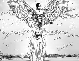 #16 para Illustrate a Book Cover with original art (man, a prophet, walking on beach with angel) por berragzakariae