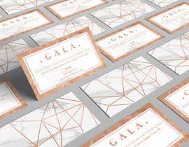 #33 for I need some graphic design. For business card and price tag , my company name is GALA , color: rose gold & off white. af angelacini