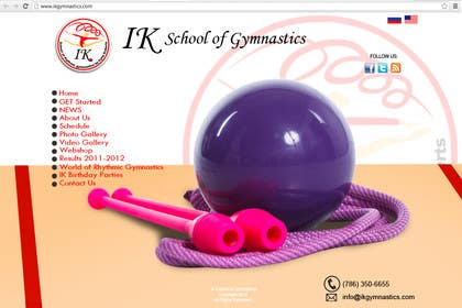 #40 for Website Design for ik gymnastics LLC by rogeliobello