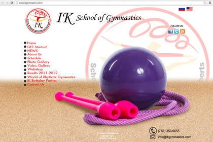 #41 for Website Design for ik gymnastics LLC by rogeliobello