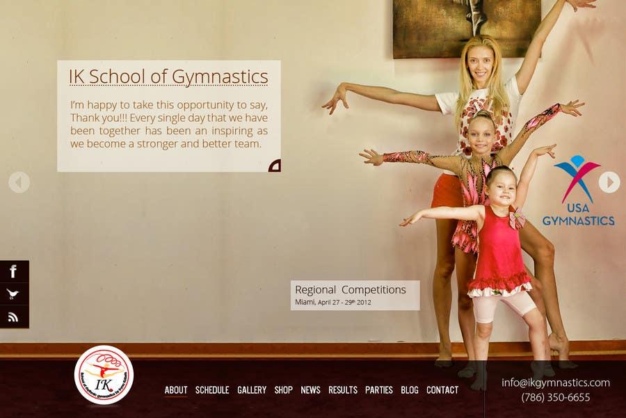 #4 for Website Design for ik gymnastics LLC by datagrabbers