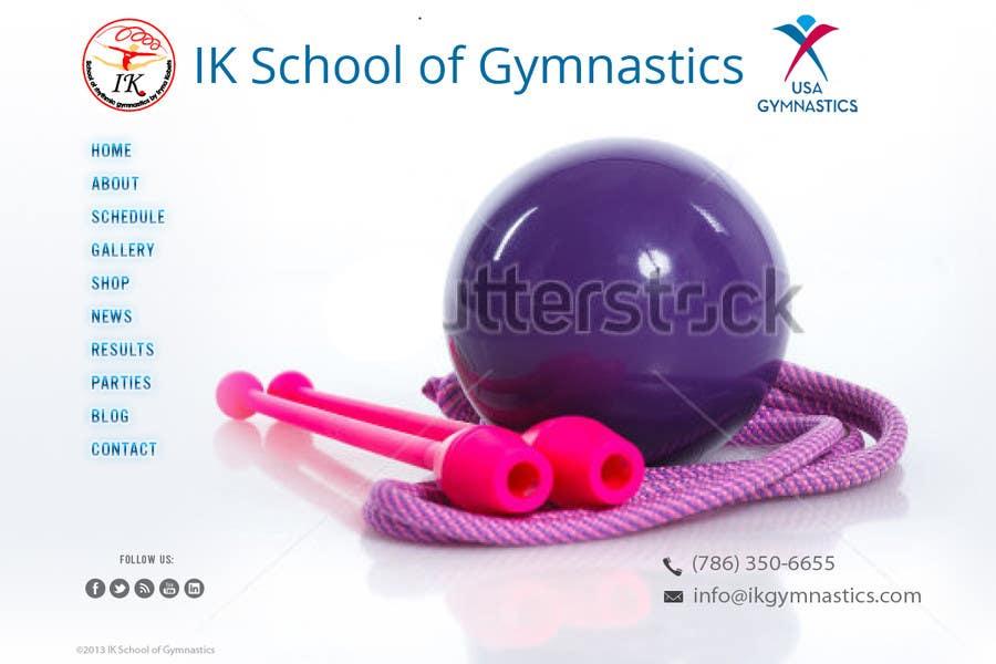 #33 for Website Design for ik gymnastics LLC by datagrabbers