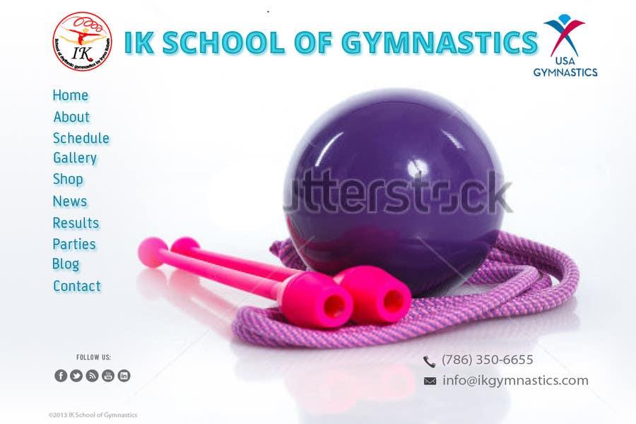 #34 for Website Design for ik gymnastics LLC by datagrabbers