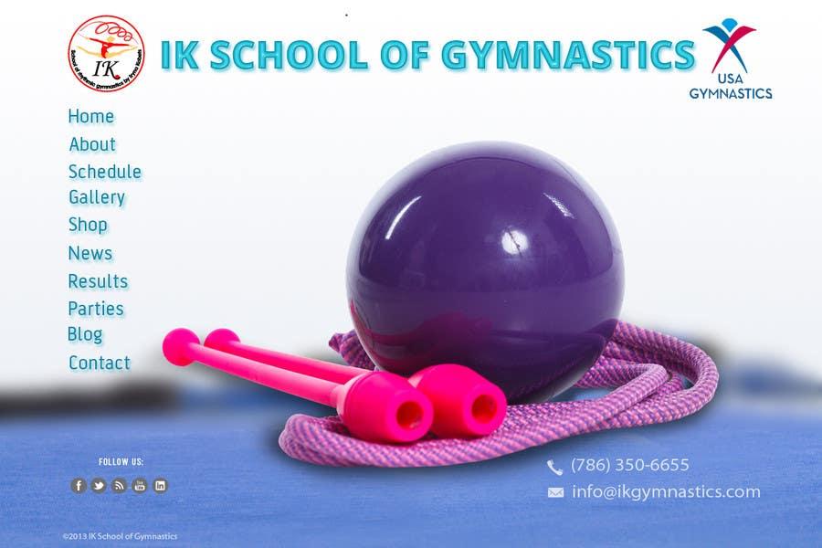 #35 for Website Design for ik gymnastics LLC by datagrabbers