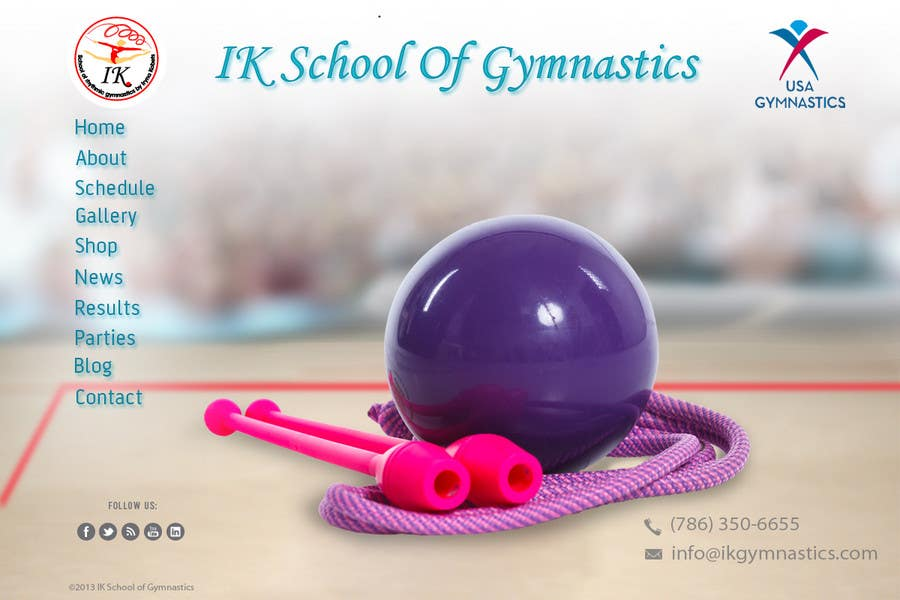 #45 for Website Design for ik gymnastics LLC by datagrabbers