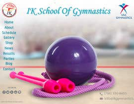#63 para Website Design for ik gymnastics LLC por datagrabbers