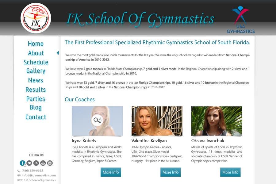 #68 for Website Design for ik gymnastics LLC by datagrabbers