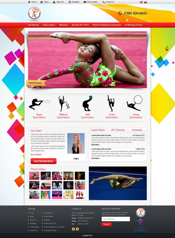#32 for Website Design for ik gymnastics LLC by nitinatom