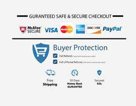 "#4 for Design secure checkout, shipping, money back guarantee icons that will go below ""Buy it Now"" button on product page by protttoy"