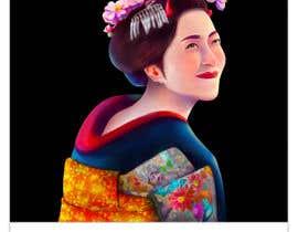 #22 untuk Improve and finish Geisha design for T shirt oleh felixhadi