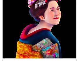 #23 untuk Improve and finish Geisha design for T shirt oleh felixhadi