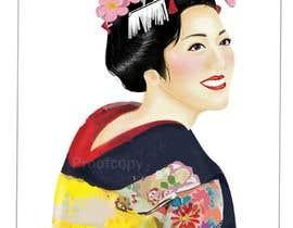 #5 untuk Improve and finish Geisha design for T shirt oleh fujo23