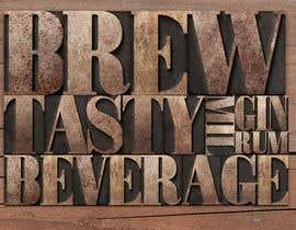#9 for Design a bar face that looks like mixed wood block letterpress av marktiu66