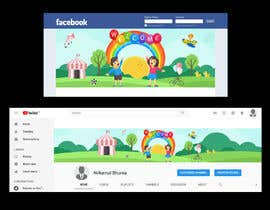 nº 3 pour YouTube Banner and Facebook Cover par fourtunedesign