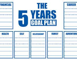 #53 para Design a new graphic for a 5 year plan activity por ryomboxstudio