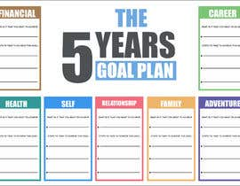 #55 para Design a new graphic for a 5 year plan activity por ryomboxstudio