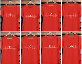 #32 untuk T-shirt design with heartbeat theme oleh pgaak2