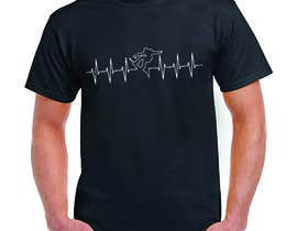 #82 for T-shirt design with heartbeat theme by marfi78689