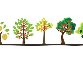 #16 for Draw 5 Fruit trees in illustrator similar to the photo supplied af vectordesign99