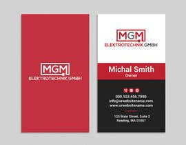 #315 for Design a business card for MGM Elektrotechnik GmbH af iqbalsujan500