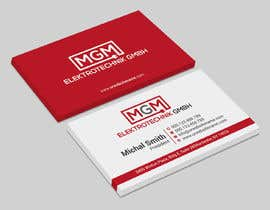 #326 for Design a business card for MGM Elektrotechnik GmbH af iqbalsujan500