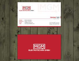#473 for Design a business card for MGM Elektrotechnik GmbH af mmhmonju