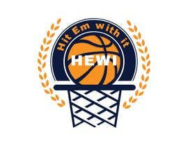 #9 untuk Would like logo to incorporate something with basketball in it. The name I would like to have with it is Hit Em Wit It and HEWI. I have attached an older logo with the name that I would like to have with the logo. oleh tafoortariq
