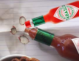 #1 for I need a picture of a Tabasco bottle on his side. And few drops that spilled of it burned the table. It need to be a close up from the side and need to look realistic as well. Thanks to the helpers!  (Good work may provide more to the creators) by rahmanmijanur126