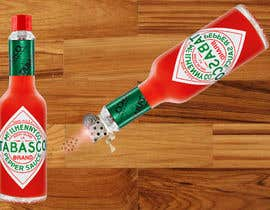 #13 for I need a picture of a Tabasco bottle on his side. And few drops that spilled of it burned the table. It need to be a close up from the side and need to look realistic as well. Thanks to the helpers!  (Good work may provide more to the creators) by rahmanmijanur126