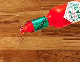 #14 for I need a picture of a Tabasco bottle on his side. And few drops that spilled of it burned the table. It need to be a close up from the side and need to look realistic as well. Thanks to the helpers!  (Good work may provide more to the creators) by rahmanmijanur126