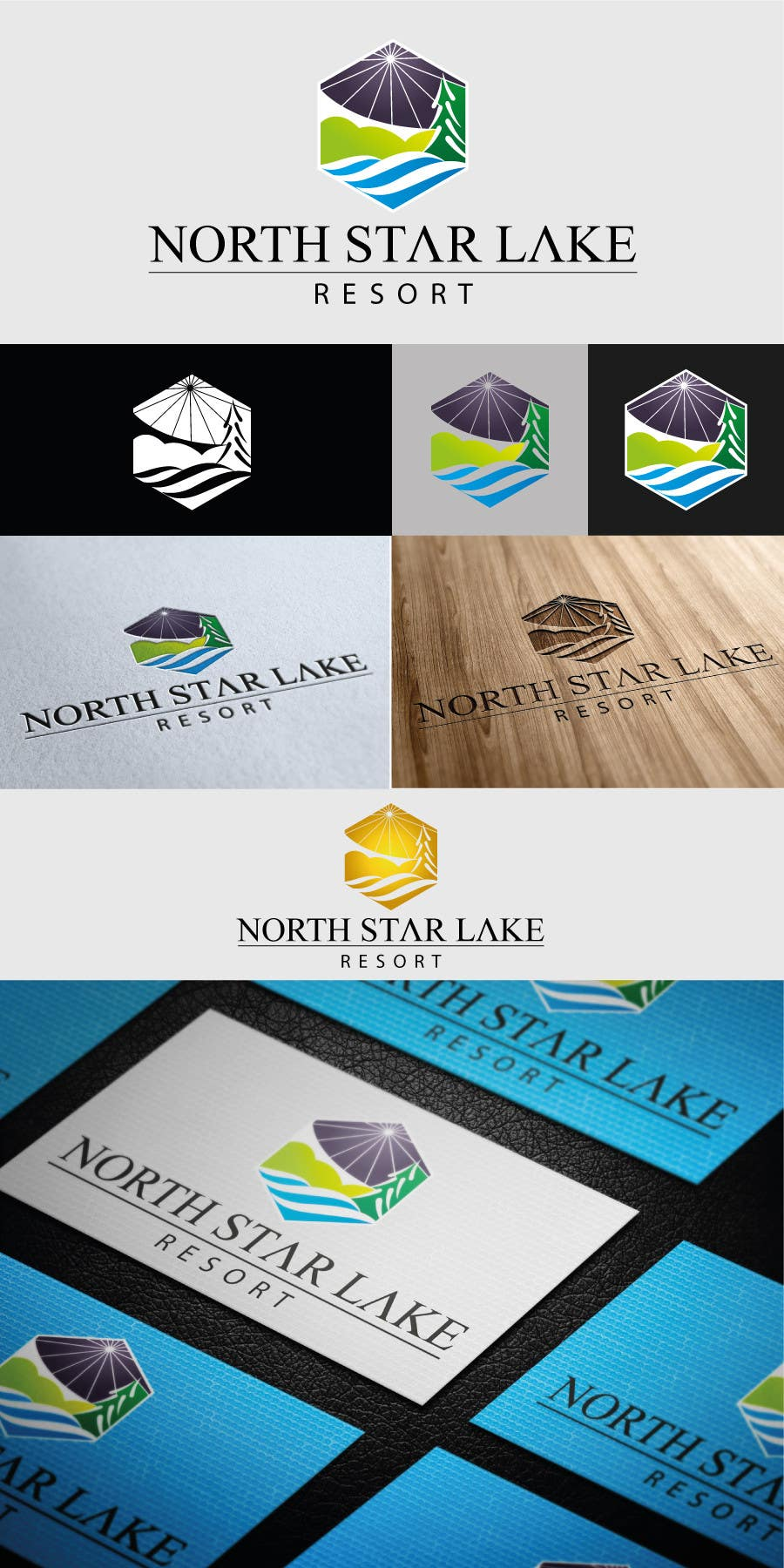 Konkurrenceindlæg #75 for Logo Design for A northwoods resort in Minnesota USA called North Star Lake Resort