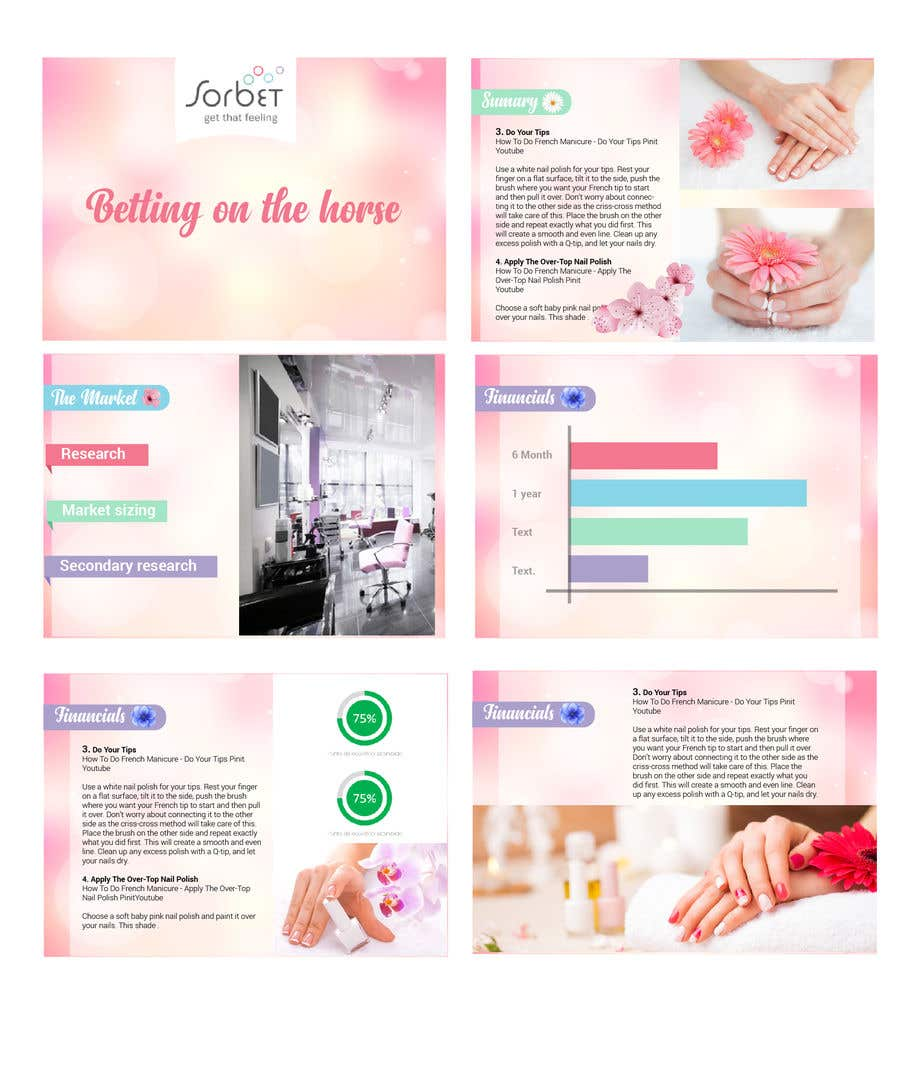 Entry 3 By Karypaola83 For Design A Powerpoint Template For A Nail