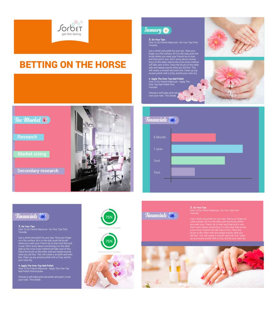 Entry 4 By Karypaola83 For Design A Powerpoint Template For A Nail