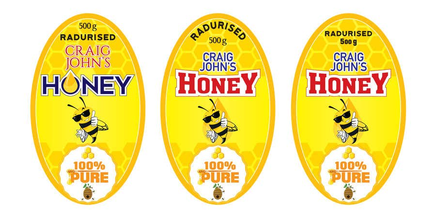 Entry #61 by ibaadibrahim for Design a Honey label | Freelancer