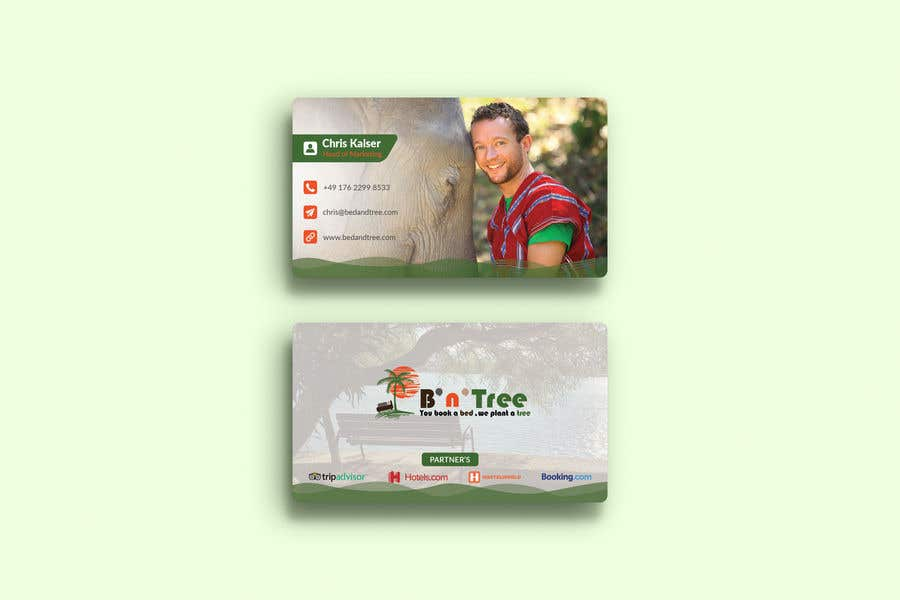Proposition n°127 du concours New B'n'Tree Business Cards Needed