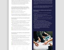 Nro 13 kilpailuun Designing two creative looking flyers for training programs käyttäjältä rahulsakat99
