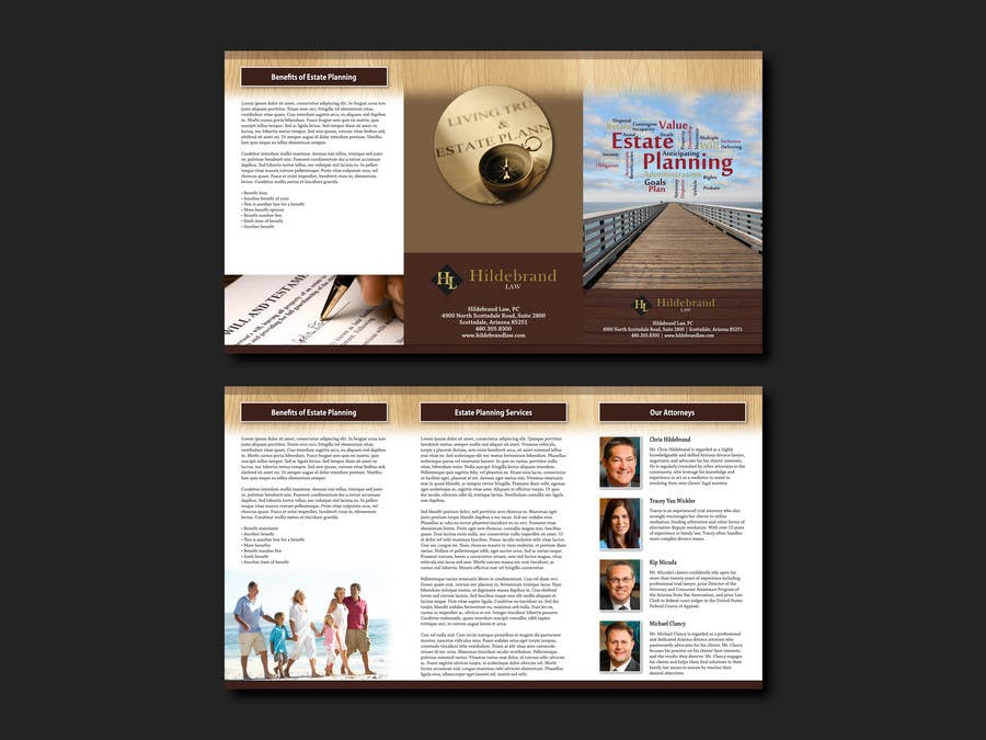 entry 6 by cowboyrg for design a brochure for estate planning law