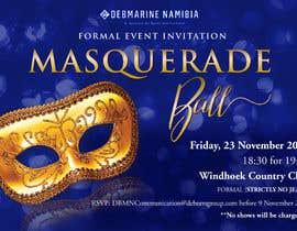 Nro 23 kilpailuun Formal masquerade event invite käyttäjältä hernanriveravzla