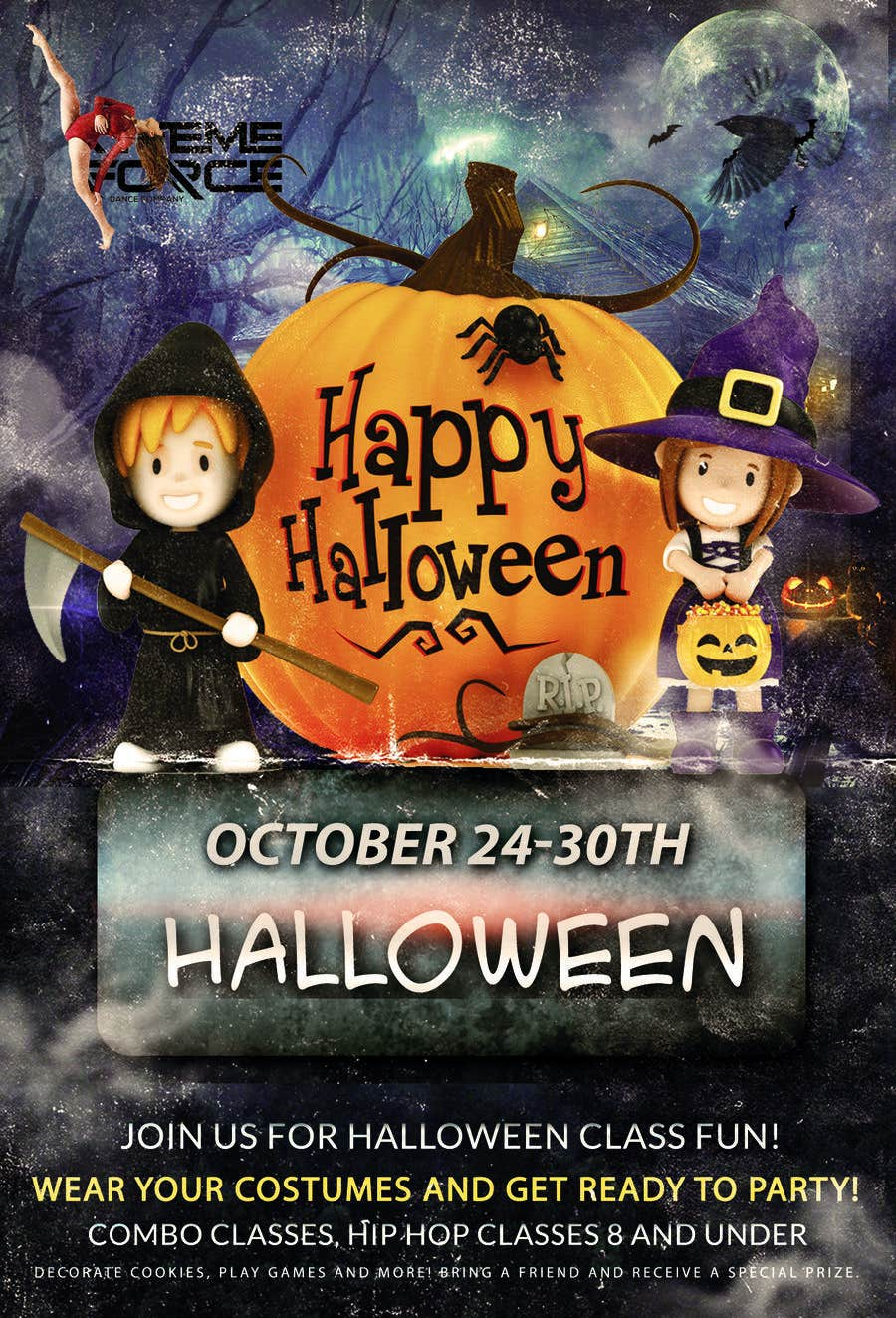 entry 14 by ashfin19 for design a flyer halloween party freelancer