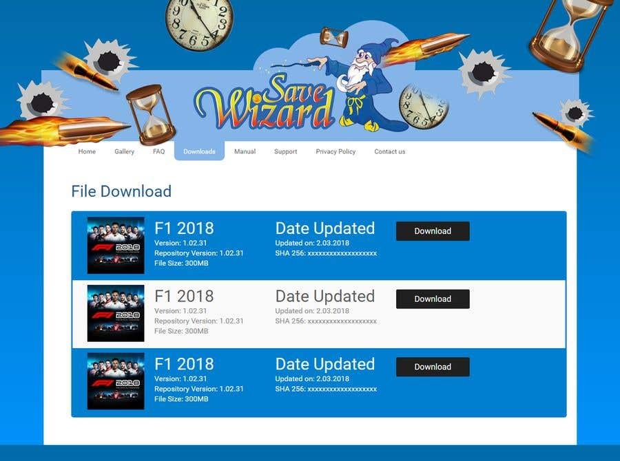 Kilpailutyö #18 kilpailussa Design a File Download page (Template) that matches our theme