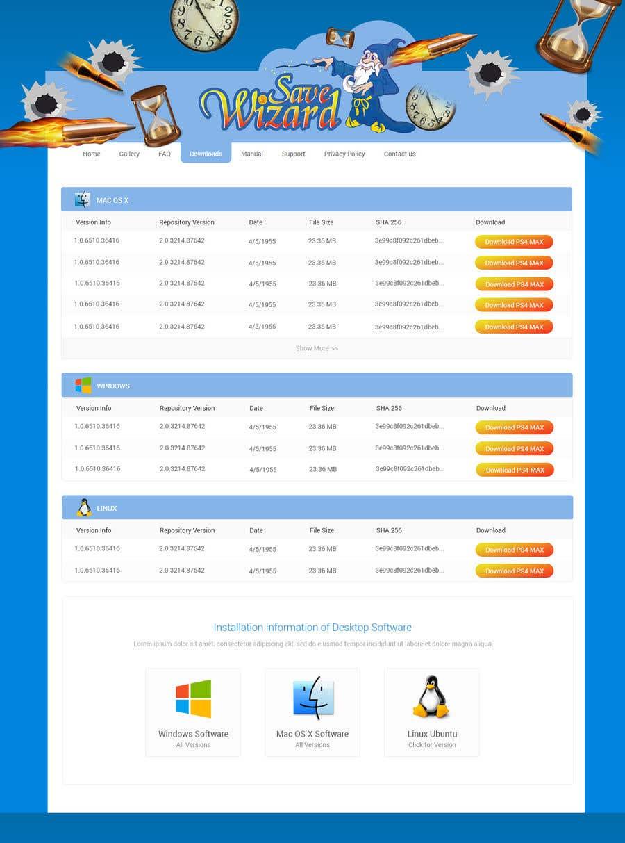 Kilpailutyö #16 kilpailussa Design a File Download page (Template) that matches our theme