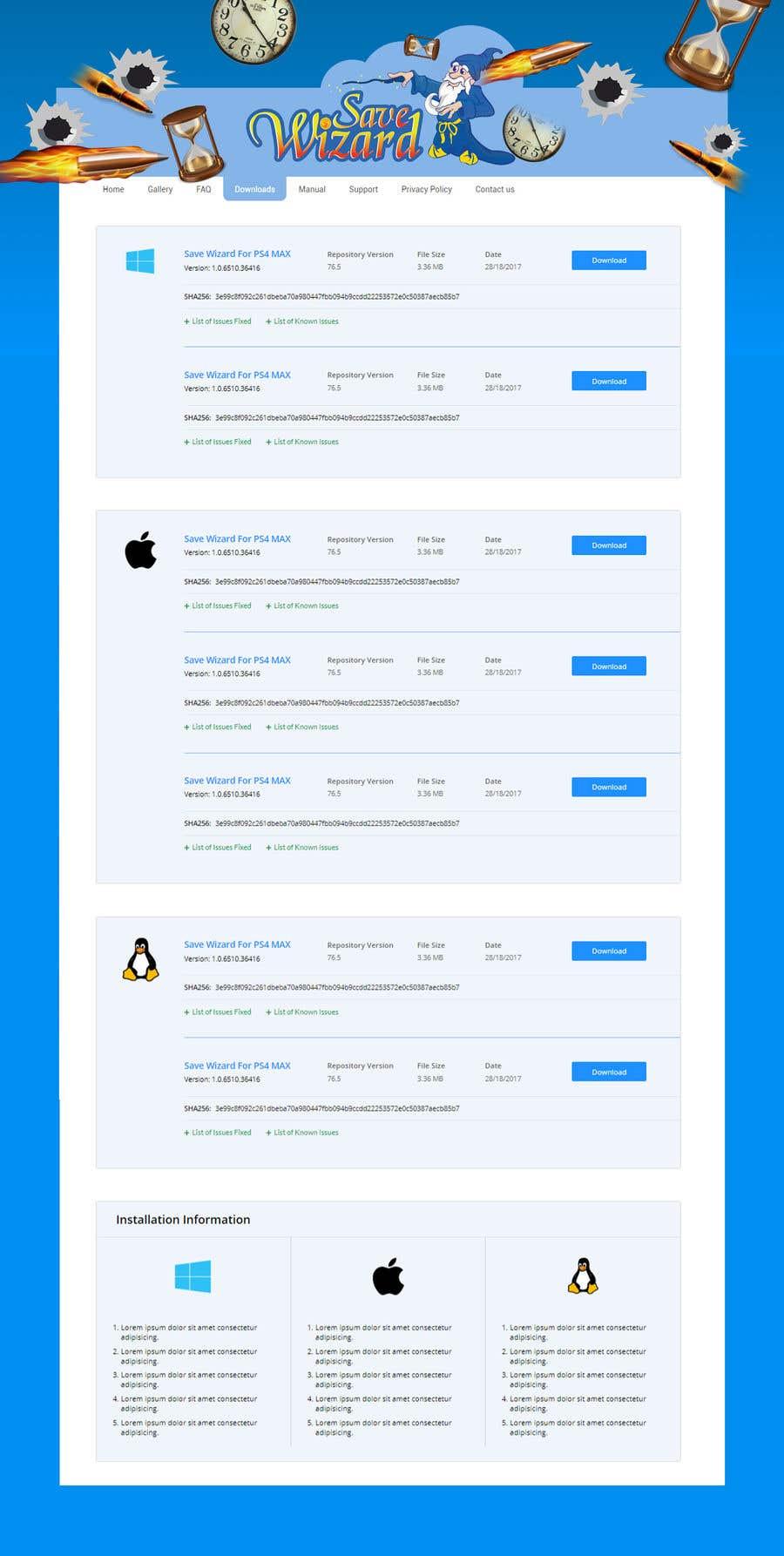 Kilpailutyö #19 kilpailussa Design a File Download page (Template) that matches our theme