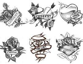 #31 for Simple graphic design - old school heart/rose with ribbon and lettering by purpleexperts