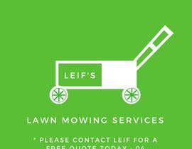 "#1 untuk Business card logo and design.  Description - "" Leif's Lawn Mowing Services ""  Please contact Leif for a free quote today on: 04 ***** number will be provided to winner.      FYI ** This is for a lawn mowing business ** oleh ilgazk"