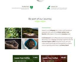 nº 26 pour Website single page graphic design Coffee Farm par kocakb