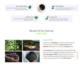 nº 30 pour Website single page graphic design Coffee Farm par kocakb